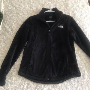 Black North Face fuzzy jacket